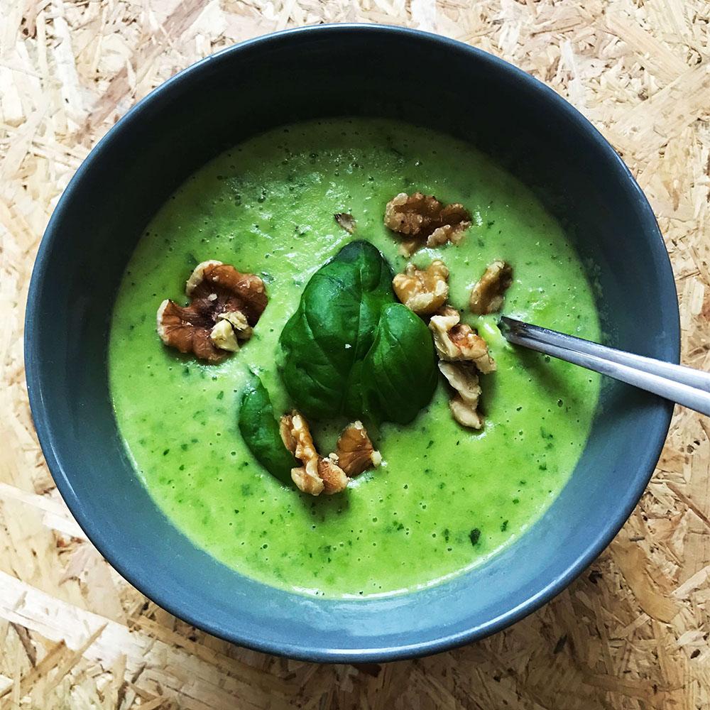 Basilikum Suppe mit Calcium