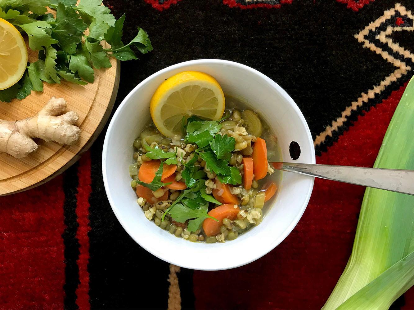 Detox im Januar – Mungobohnen-Suppe